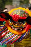 Chinese lion dance. In Frankfurt, Germany Stock Photos