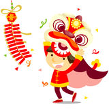 Chinese Lion Dance Stock Photography