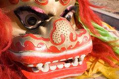 Chinese lion dance Royalty Free Stock Photos