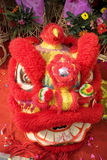 Chinese lion dance. Mask and costume. lion dance is very popular in guangdong, South China Royalty Free Stock Images