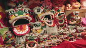 Chinese Lion Dance. stock video