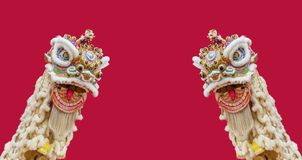Chinese lion dance Royalty Free Stock Photo