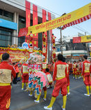 Chinese lion dance performance for Chinese New Year Celebrations Stock Image