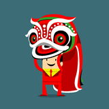 Chinese lion dance Stock Image