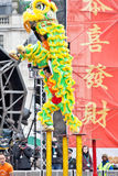 Chinese Lion Dancers Royalty Free Stock Photography