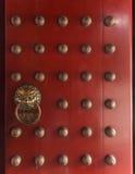 Chinese lion door Stock Image