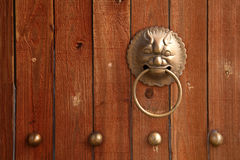 Chinese lion door knob Royalty Free Stock Image