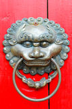 Chinese lion door knocker Royalty Free Stock Photos