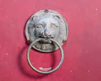 Chinese lion door knocker Stock Photo