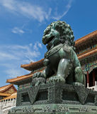 Chinese lion in Forbidden City Stock Photography