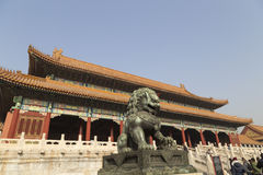 Chinese Lion in Forbidden Royalty Free Stock Image