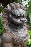 Chinese lion. Guarding a garden Royalty Free Stock Photography