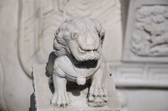 Chinese lion at Hanshan Temple Stock Images