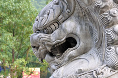 Chinese lion head statue Royalty Free Stock Photo