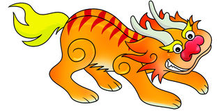 Chinese lion icon. Chinese new year icon - lion Stock Photos