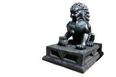 Chinese lion matal statue Royalty Free Stock Photography