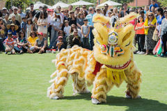 Chinese lion at the Norooz Festival and Persian Parade Royalty Free Stock Image