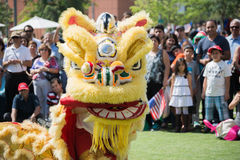 Chinese lion at the Norooz Festival and Persian Parade Royalty Free Stock Images