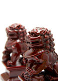 Chinese lion sculpture Stock Photos