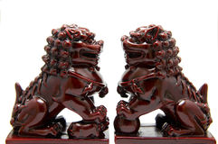 Chinese lion sculpture Stock Photo