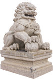 Chinese lion statue. In white background stock photos