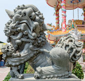 Chinese lion statue, also called the guardian lion Royalty Free Stock Photography