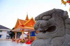 Chinese lion statue Stock Photos