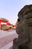 Chinese lion statue Royalty Free Stock Photos