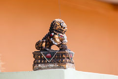 The chinese lion statue Royalty Free Stock Photography