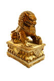 Chinese lion statue isolate white background Royalty Free Stock Images