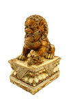 Chinese lion statue isolate white background. Chinese lion statue chinese culture isolate white background Royalty Free Stock Photography
