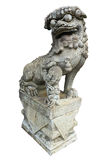 A chinese lion statue isolated Stock Images