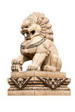 Chinese lion statue isolated Stock Photography