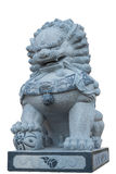 Chinese lion statue isolated on white with clipping path Stock Photos