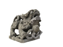 Chinese lion statue. In stone craving Royalty Free Stock Image