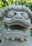 Chinese lion statue. In Wat Arun Rajwararam thailand Royalty Free Stock Image