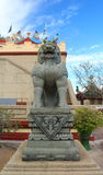 Chinese lion statues in Chinese temple Stock Photography