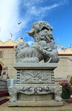 Chinese lion statues in Chinese temple Royalty Free Stock Photography