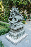 Chinese Lion Stone Sculpture Royalty Free Stock Photos