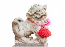Chinese lion. On white background Stock Images