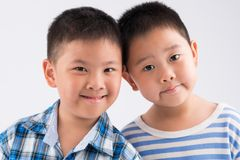 Chinese little brothers Stock Photo