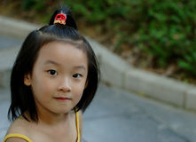 chinese little child cute Stock Image