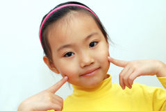 Chinese little girl royalty free stock image