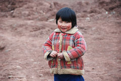 Chinese little girl in the countryside Royalty Free Stock Photos