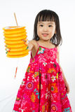 Chinese little girl holding latern Stock Photography