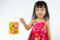 Chinese little girl holding latern Stock Image