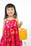 Chinese little girl holding latern Stock Photos