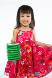 Chinese little girl holding latern Stock Images