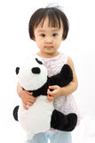 Chinese Little Girl Holding Panda Toy Royalty Free Stock Images