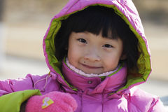 Chinese little girl portrait royalty free stock images
